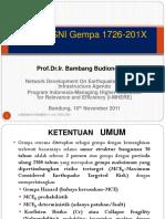 Konsep SNI Gempa 1726-201X