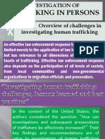 Investigation on Human Trafficking