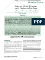Characteristics and Clinical Outcomes of Sarcomatoid Carcinoma of the Lung