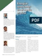 Energías Renovables en El Medio Marino