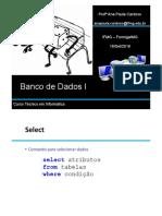 Aula 01 Banco de Dados I 18-09-2018