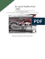 Diagrama de Caja de Fusibles Ford F150 1997