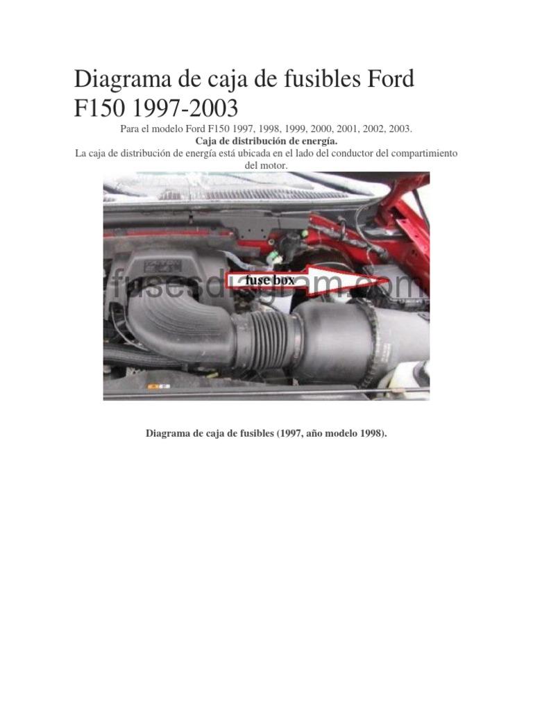 Diagrama De Fusibles Ford F 150 92