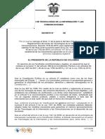 Borrador Decreto Servicios Ciudadanos Digitales