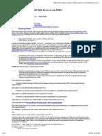 Connect to Microsoft SQL Server via JDBC