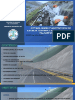 Estudio Diseño y Construcción de Canales de Coronación -Taludes de Corte