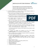 Edital Científico - 1° Congresso Baiano de Saúde
