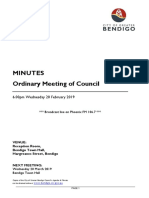 20190220 Council Meeting Minutes 20 February 2019
