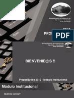 Modulo Institucional 2019