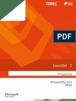 Lección 01 Proyectos Excel