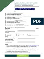 Form Pendaftaran Pelatihan IHATEC