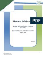 MANUAL DE ORGANIZACION MINED