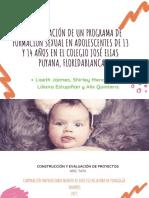 Implementación de Un Programa de Formación Sexual en Adolescentes de 13 y 14 Años en El Colegio José Elias Puyana, Floridablanca (1)
