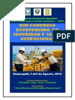 Xiii Congreso Ecuatoriano de Seguridad y Salud Ocupacional_guayaquil_ Agosto 2019