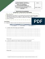 Guía formato SIMCE matemática 4to básico