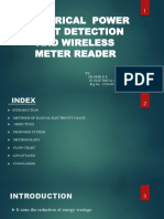 Electrical power theft detection and wireless energy meter