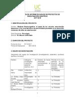 PRIMER INFORME TRIMESTRAL PROYECTO MADUREZ NEUROCOGNITIVA.doc
