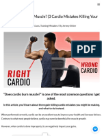 Does Cardio Burn Muscle (3 Cardio Mistakes Killing Your Gains)