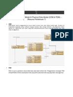 Conseptual Data Model & Physical Data Model (CDM & PDM)