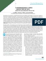 Olea, J., Abad, F. J. & Barrada, J.R. (2010). Test Informatizados y Otros Nuevos Tipos de Tests.