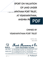 Approved Valuer Report on Land Valuation of VPT for the Period 2018 2023