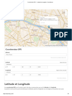 Coordonnées GPS --_ Latitude Et Longitude, Convertisseur