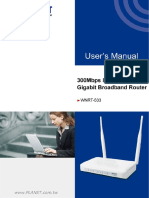 User manual router Planet WNRT-633