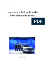 Case Study – Failure Brand in International Business