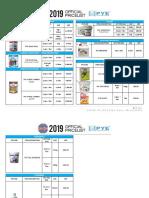 Pye Pricelist 2019 Editdate 081618
