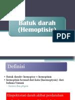 askep hemoptisis