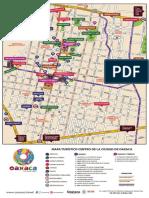 Mapa del centro historico de oaxaca