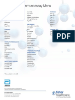 Abbott Architect Immunoassay Data Sheet