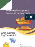 Presentation on Market Potential of Tag Taste