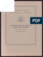 Literature in Liszt's mind and work