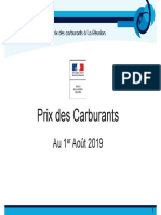Formation Des Prix - Aout 2019