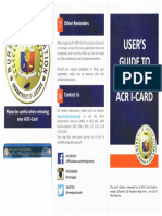BI Issued USER's GUIDE For ACR I-Card
