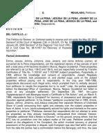 Regalado v. de La Pena Full Text