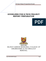 BTech Project Report Format