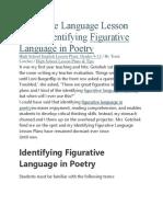 Figurative Language Lesson Plans