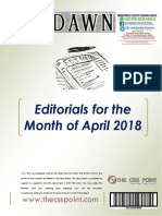 Dawn editorial april 2018