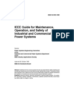 IEEE Guide for Maintenance, Operation, And Safety of Industrial and Commercial Power Systems