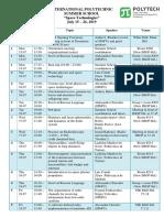 Space Technologies2019 Schedule Fin