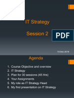IT Strategy Session 2 - 15 Dec 18