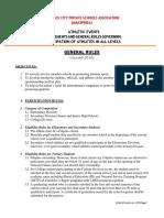 MACIPRISA Athletic Guidelines Rev. 2018-1-1