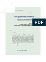 Análise interlinguística de gêneros textuais