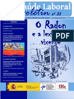Boletin CIG Saude Laboral Nº 33 Version Galego