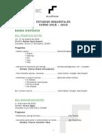 Programación Estudios Orquestales 18-19