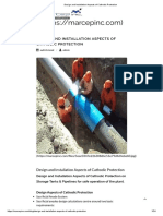 Design aspects of Cathodic protection