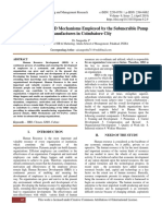 An Analysis of the HRD Mechanisms Employed by the Submersible Pump Manufactures in Coimbatore City