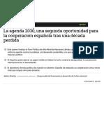 La Agenda 2030, Una Segunda Oportunidad Para La Cooperación Española Tras Una Década Perdida